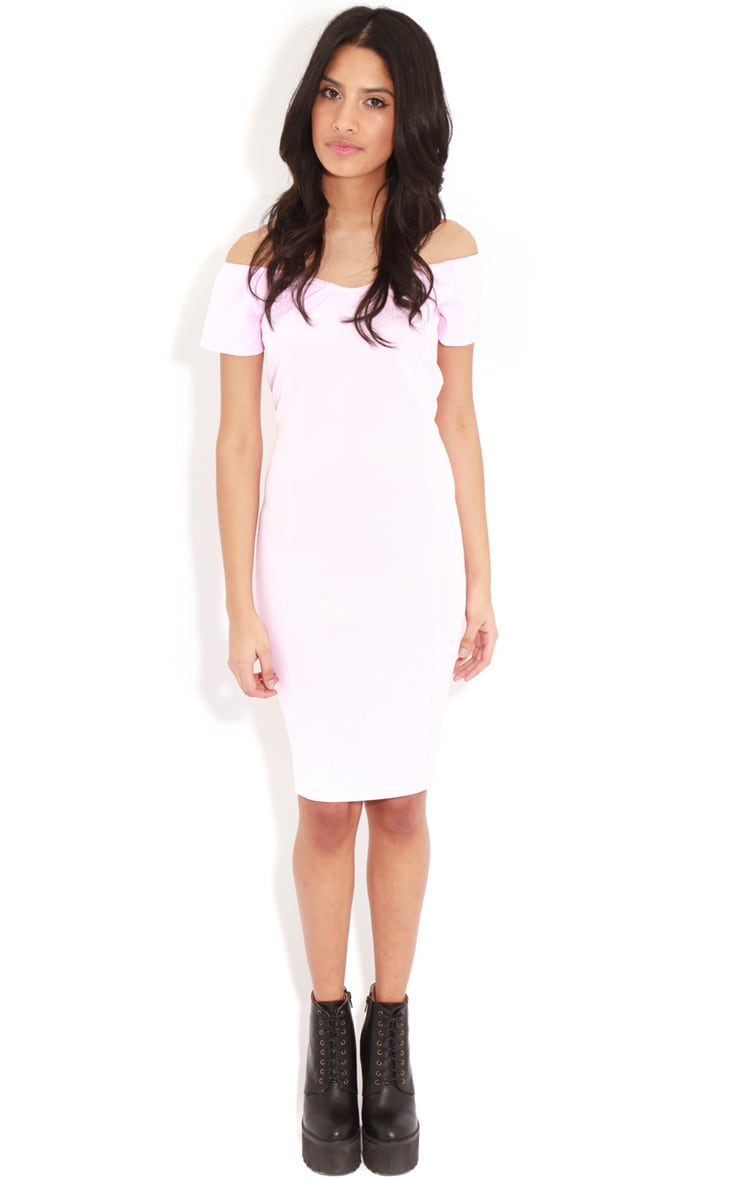 Sadia Pink Off The Shoulder Dress 3