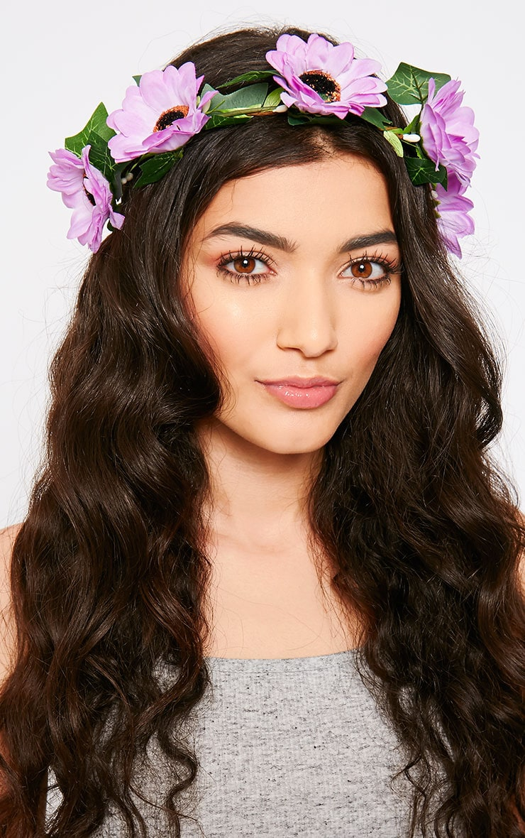 Jody Purple Daisy Hair Garland 1