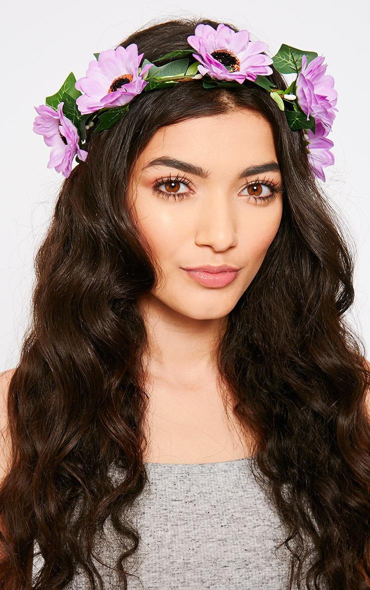 Jody Purple Daisy Hair Garland 1