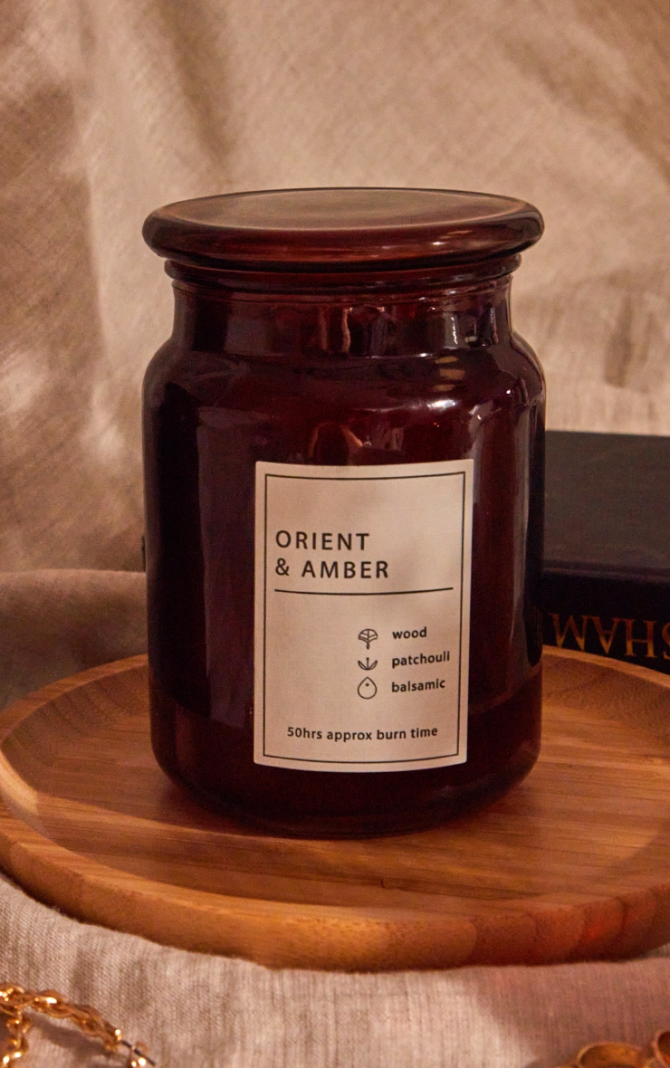 Orient & Amber Scented Glass Jar Candle 4