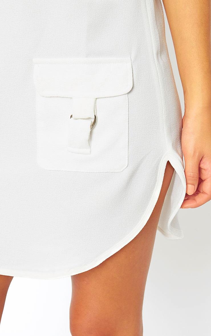 Anastasia Cream Pocket Front Shift Dress 5