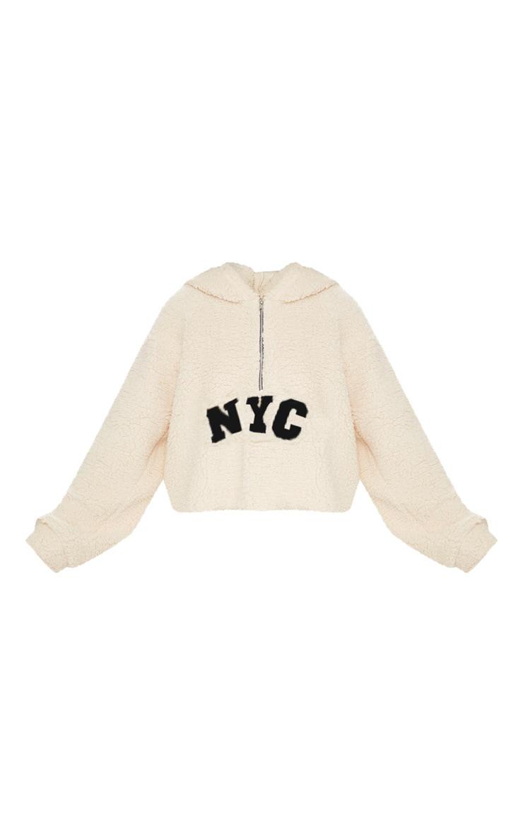 Cream NYC Crop Borg Hoodie 3