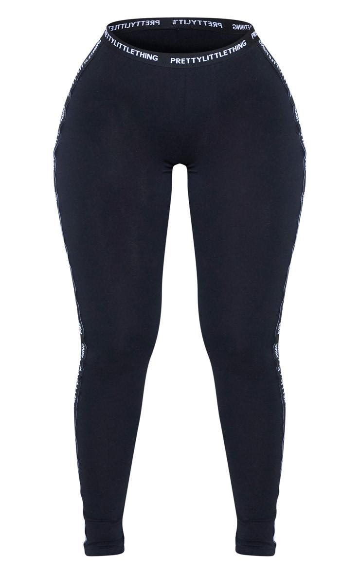 PRETTYLITTLETHING Shape Black Jersey Tape Leggings 3
