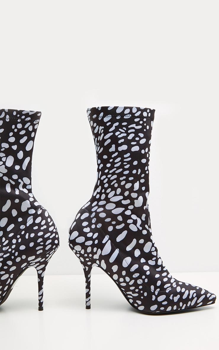 Black Spot Lycra Heeled Sock Boot 3