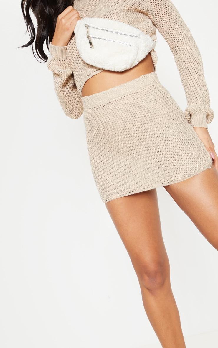 Cream Crochet Knit Co Ord  5