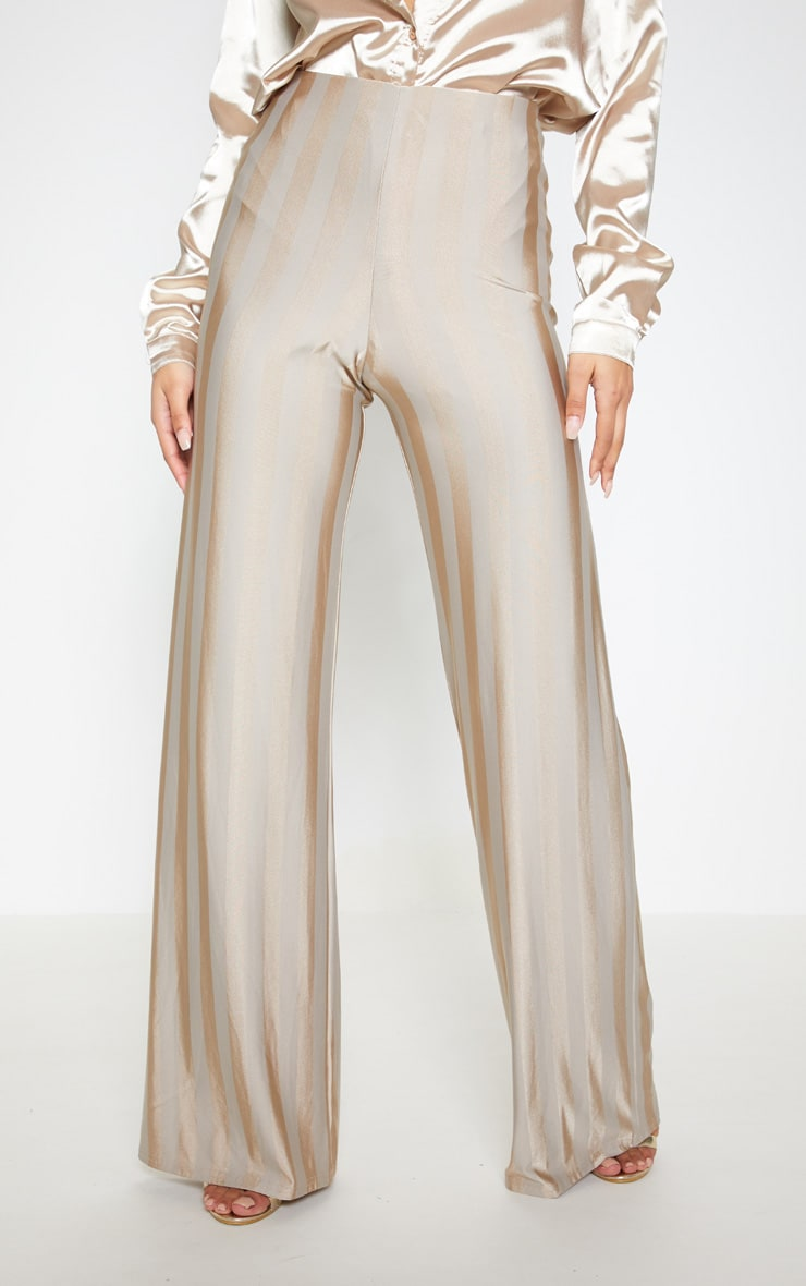 Stone Disco Stripe Casual Wide Leg Trouser 2