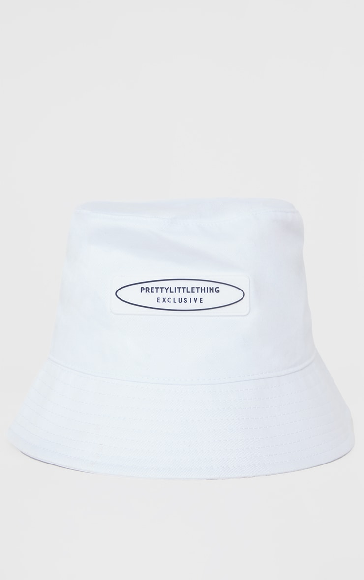 PRETTYLITTLETHING Exclusive White Bucket Hat 2