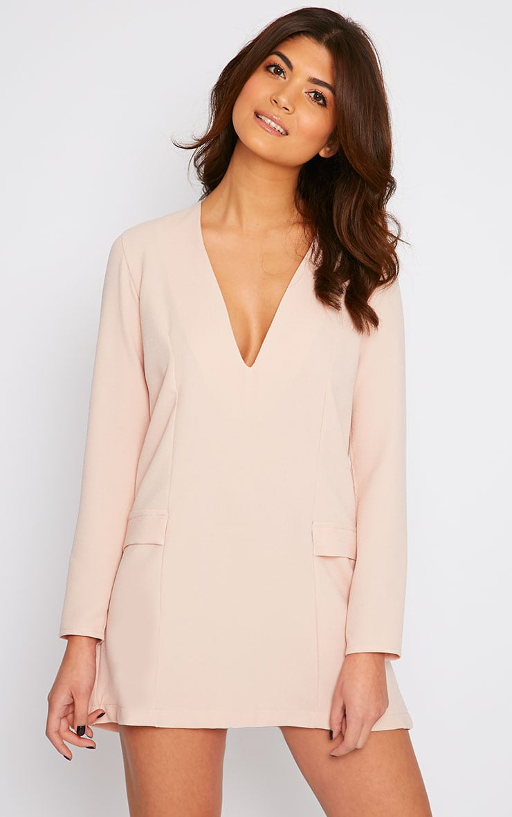 Jemima Nude Loose Fit Blazer Dress 1