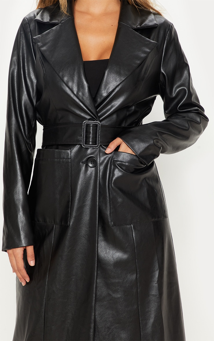Black PU Trench  5