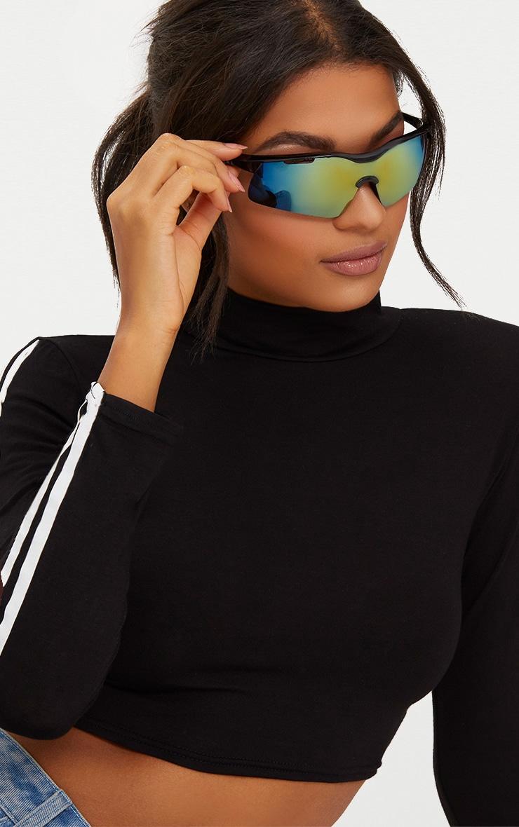 Black Sports Style Sunglasses 2