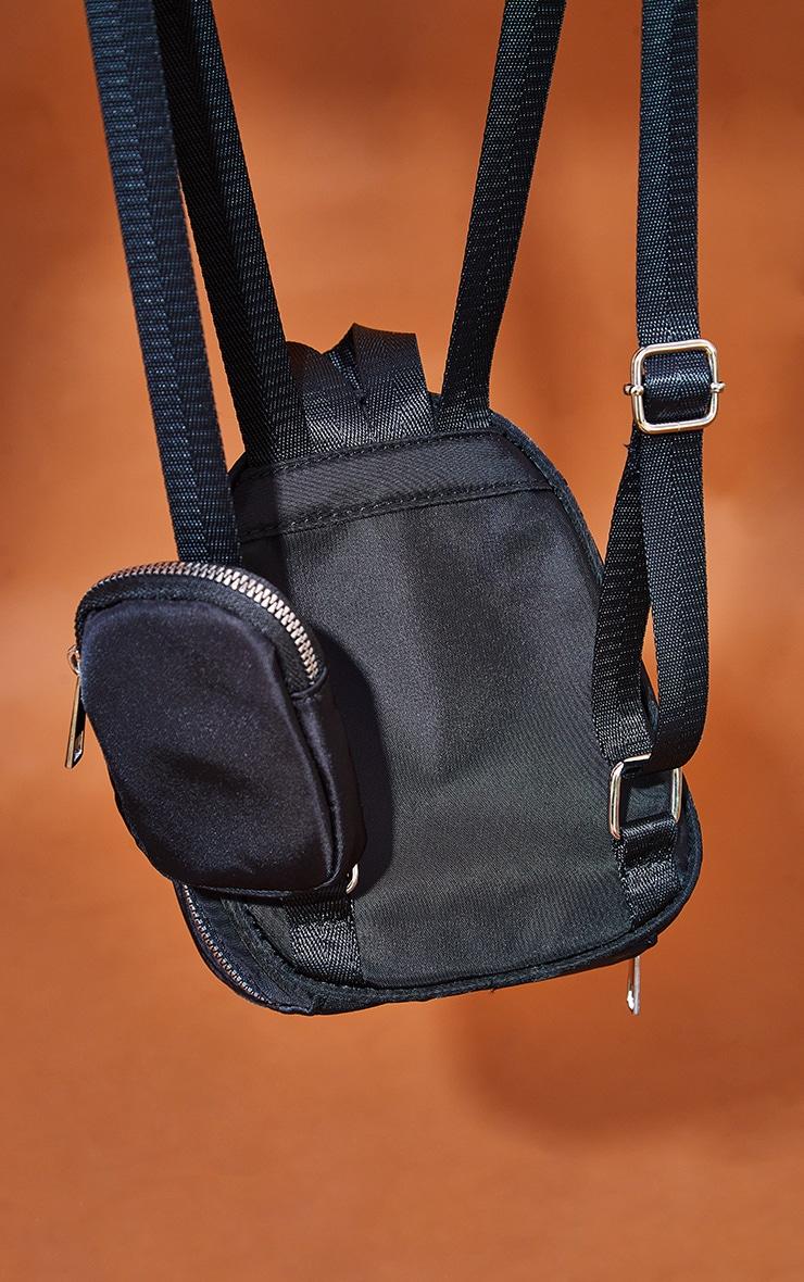 Black Nylon Multipocket Backpack 4