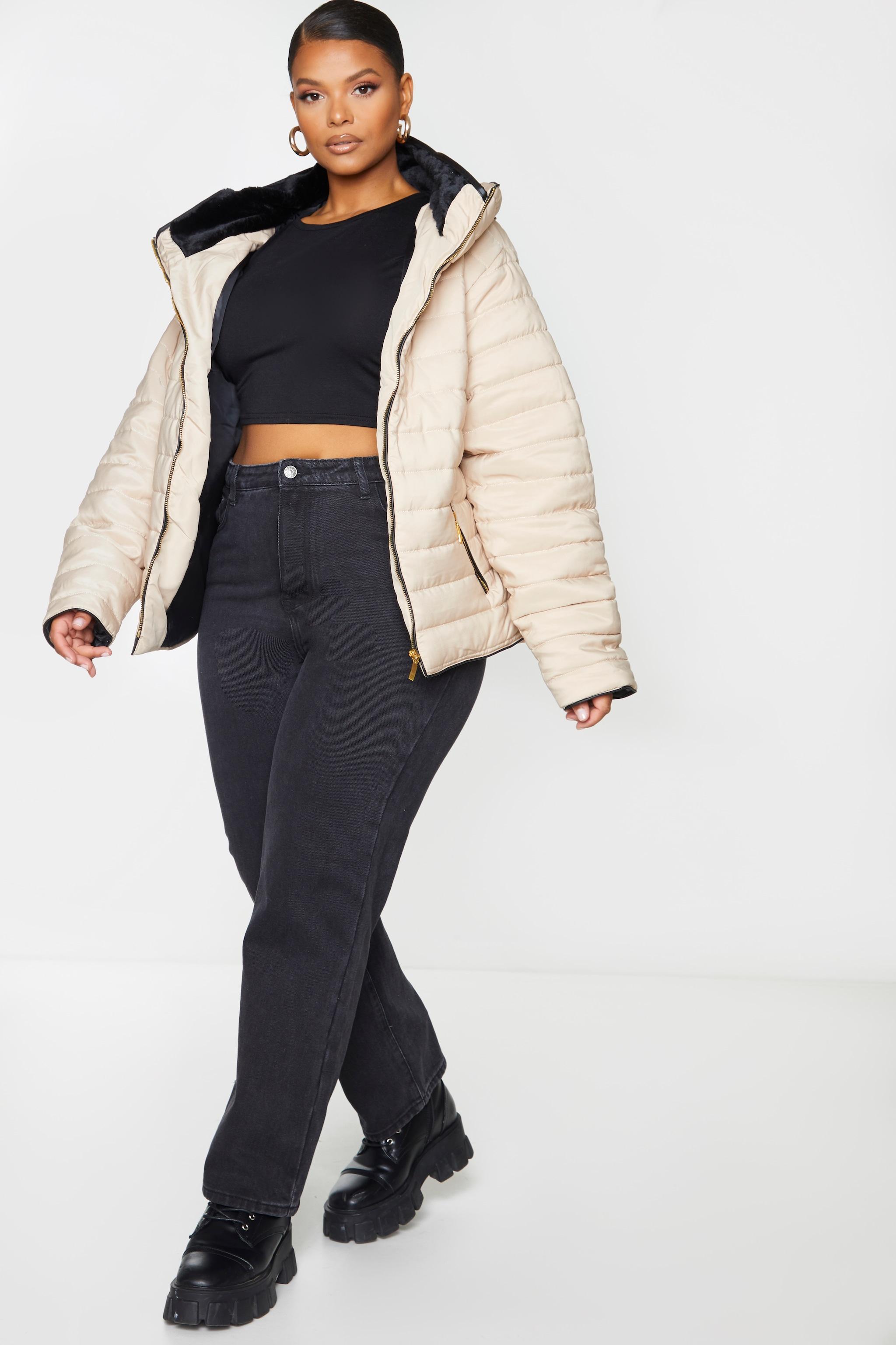 Plus Mara Stone Puffer Jacket 3