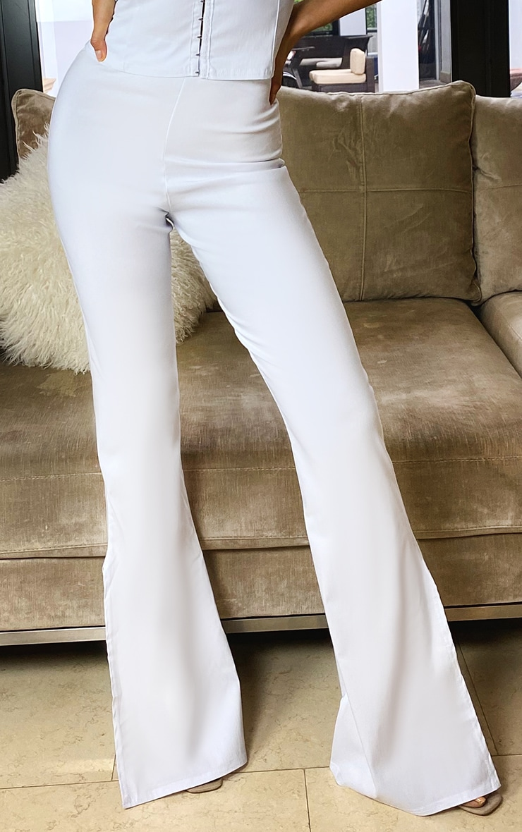 Tall Cream Split Hem Fitted Flares 2