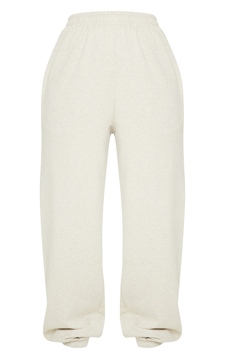 Pantalon de jogging avoine chiné casual 5