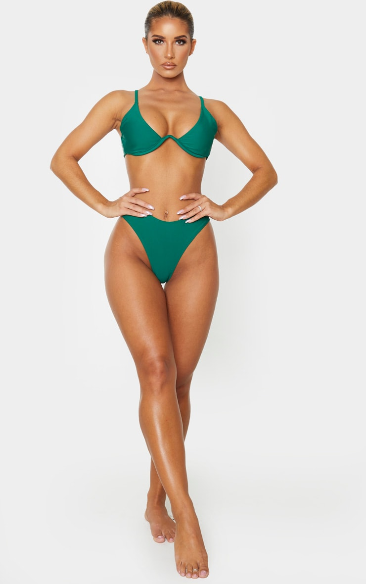 Emerald Green Mini Brazilian Bikini Bottoms 5