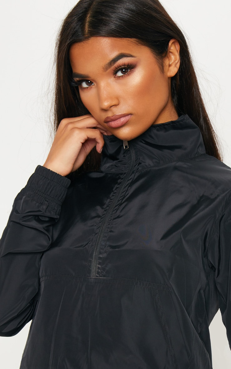 Black Shell Zip Up Tracksuit Top 5