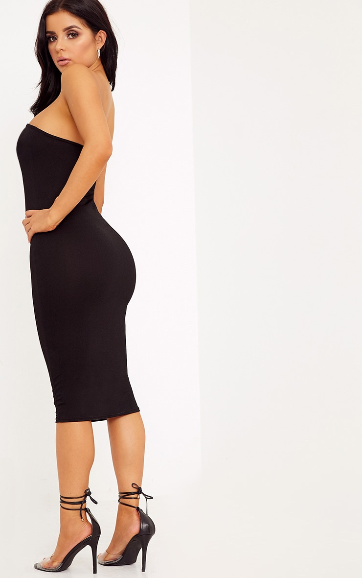 Shape Amber Black Plain Bandeau Dress 2