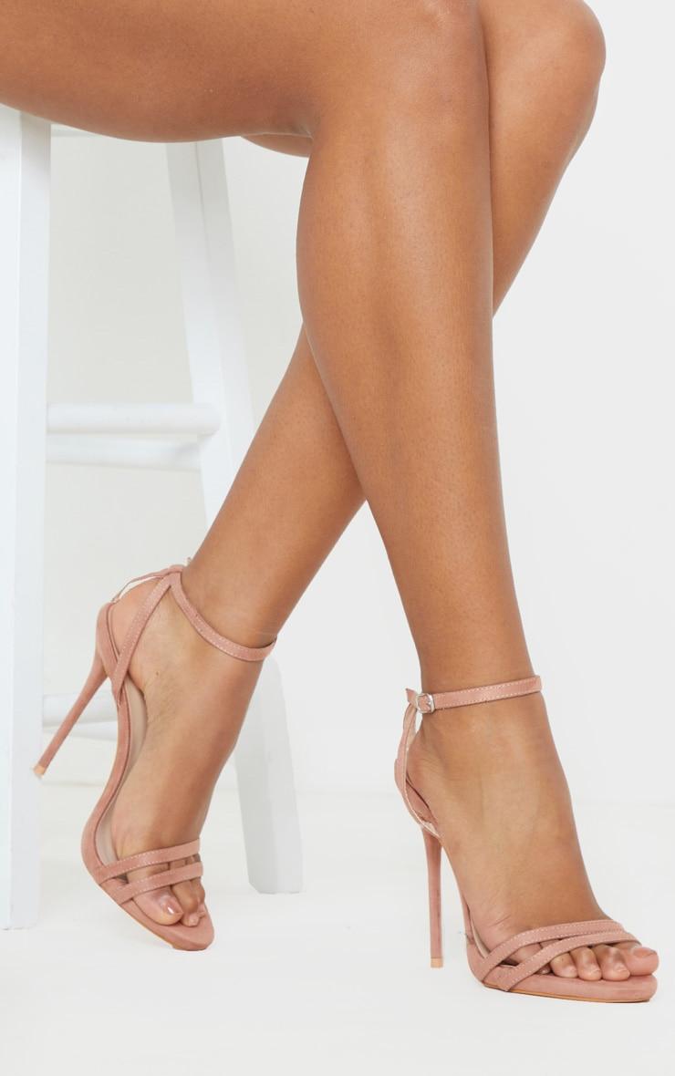 Dark Nude High Strappy Sandal 1