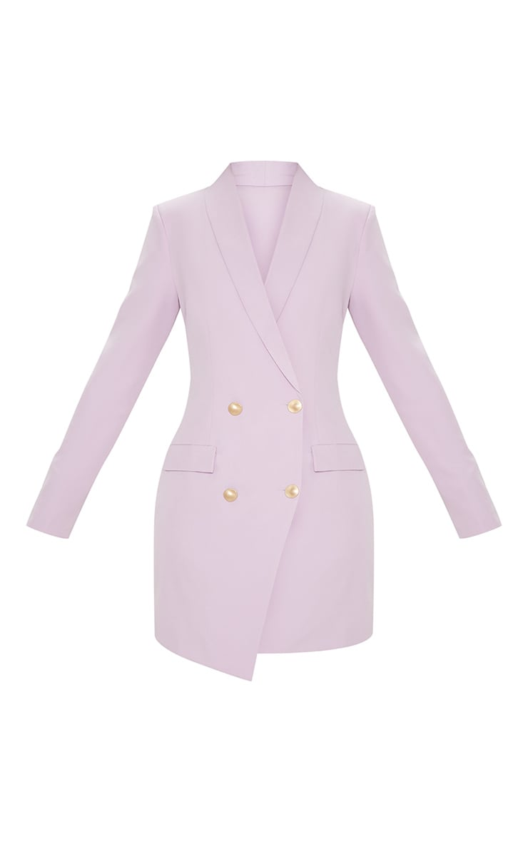 Lilac Gold Button Blazer Dress 4