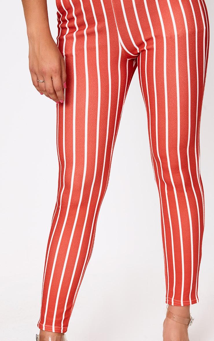 Red Stripe Skinny Trousers 5
