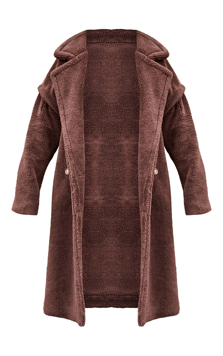 Chocolate Premium Teddy Bear Borg Coat 5
