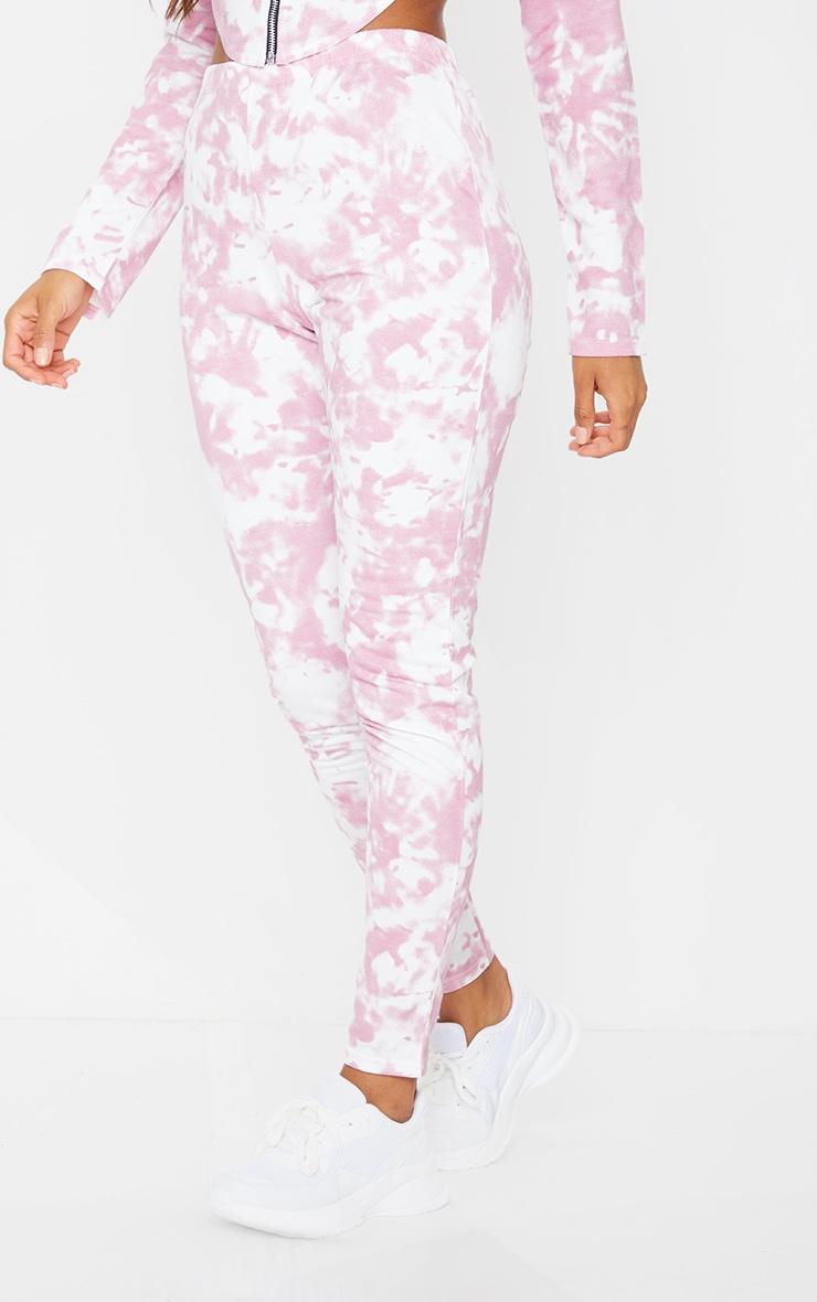 Pink Tie Dye High Waist Skinny Joggers 2