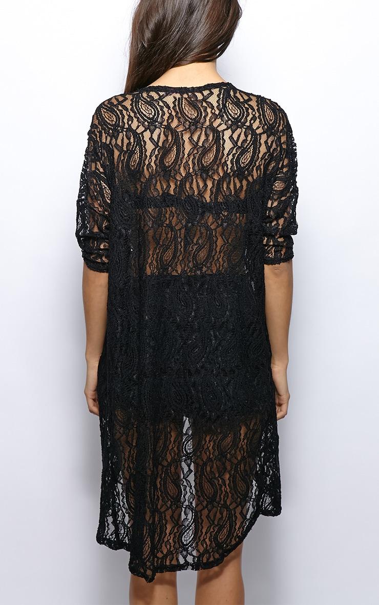 Els Black Lace Kimono 2