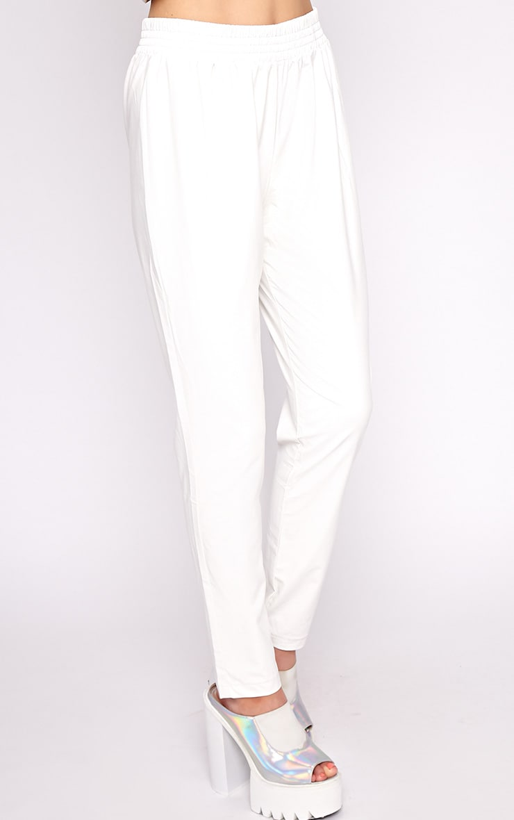 Addison White Leather Jogger 3
