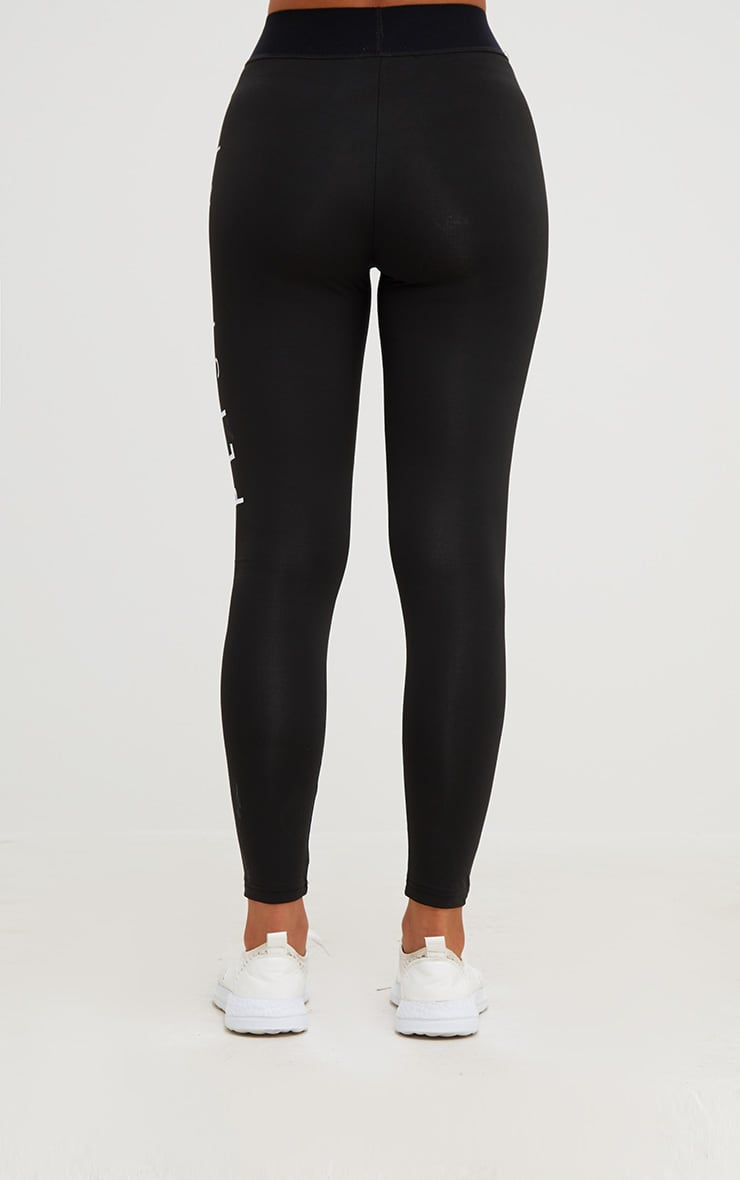 PRETTYLITTLETHING Black Monochrome Gym Leggings 4