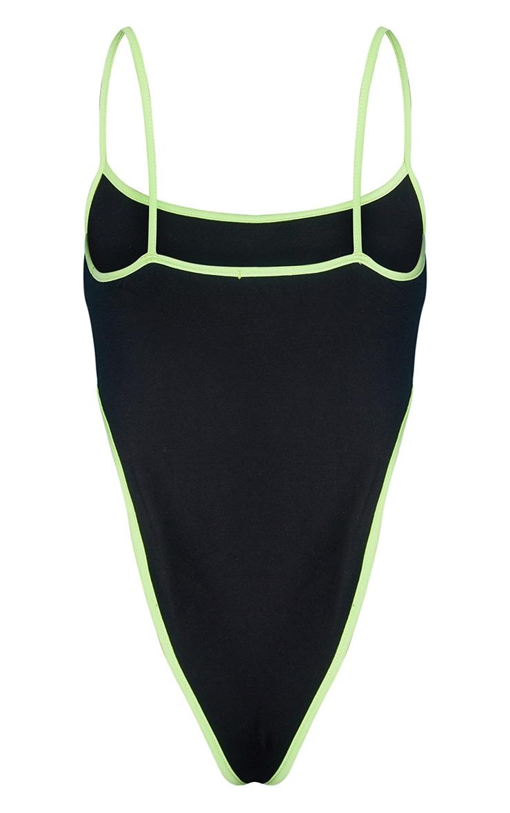 Black 1997 Printed Strappy Bodysuit 6