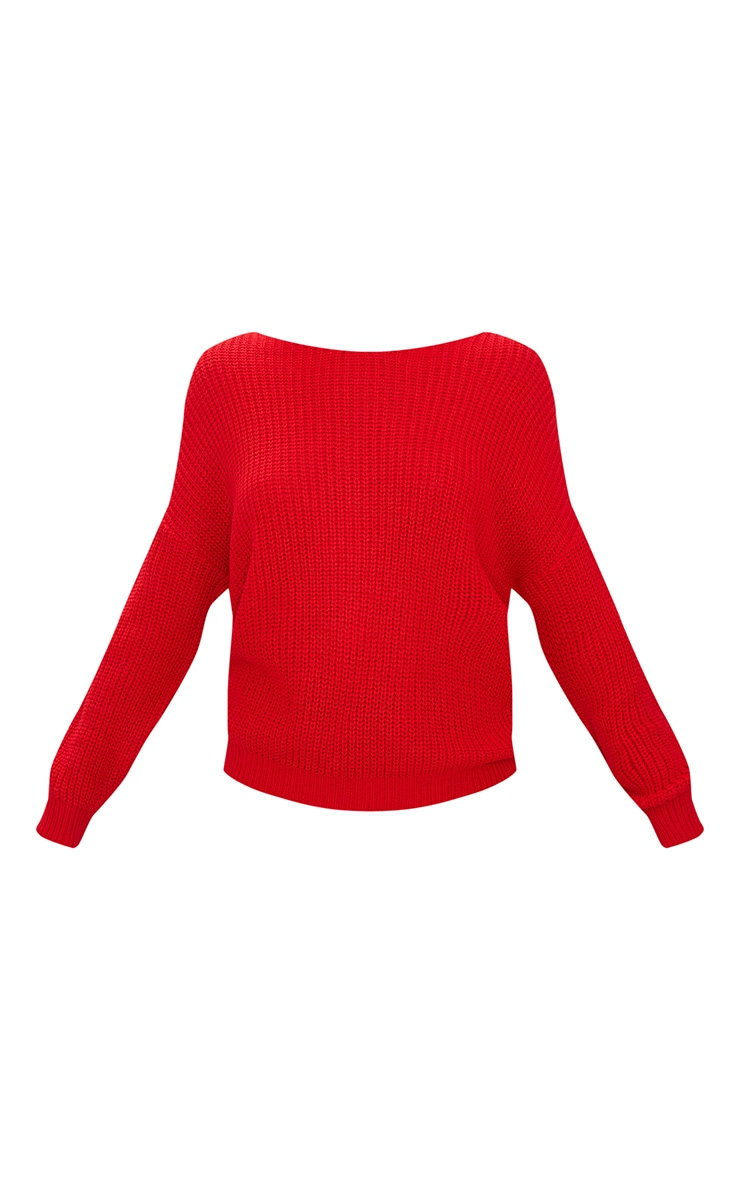 Red Twist Back Sweater 3