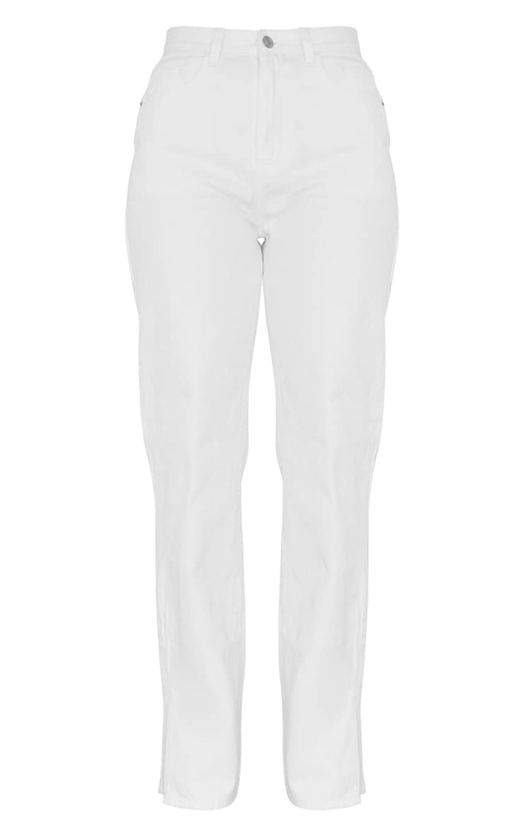 Petite White Split Hem Denim Jeans 5