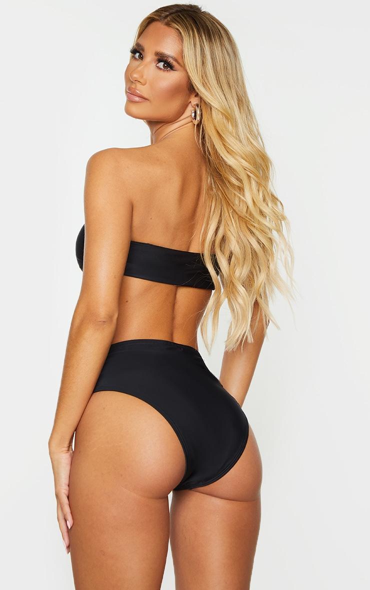 Black Mix & Match Recycled Fabric Bandeau Bikini Top 2