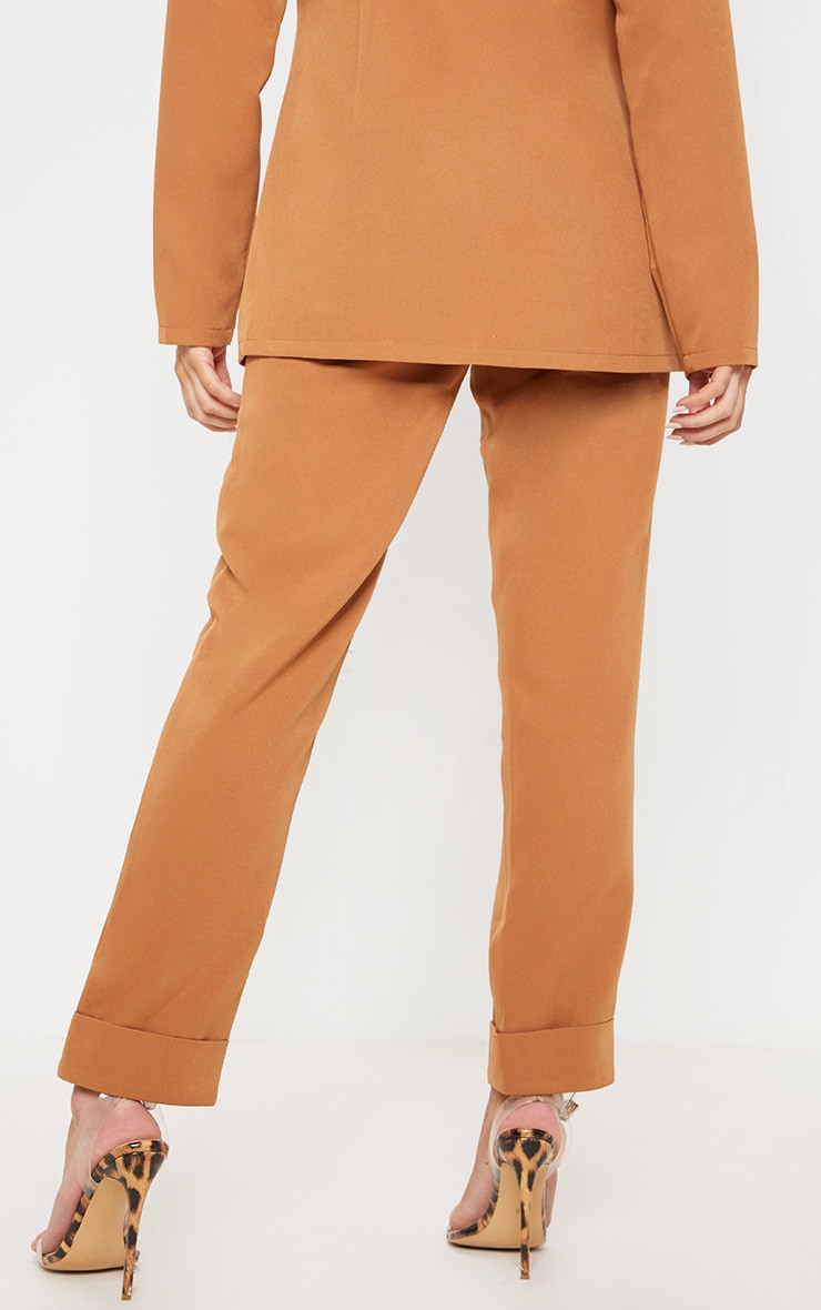 Tan Straight Leg Trouser 4