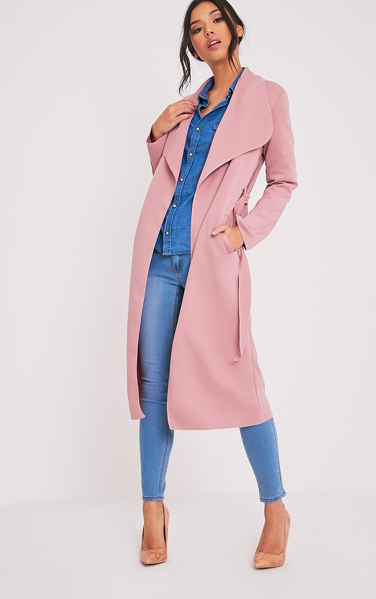 Paisie Rose Scuba Waterfall Coat 1