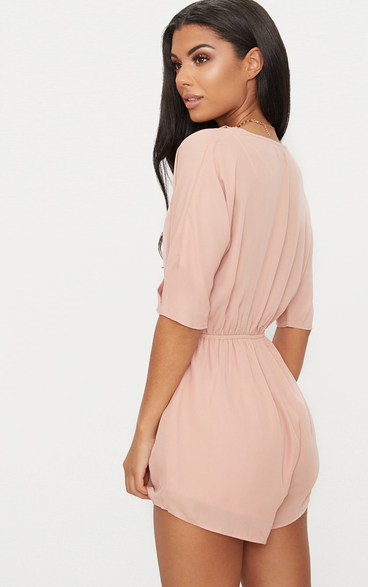 Bobby Nude Wrap Front Romper 2
