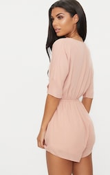 6422cf404355 Bobby Nude Wrap Front Playsuit image 2