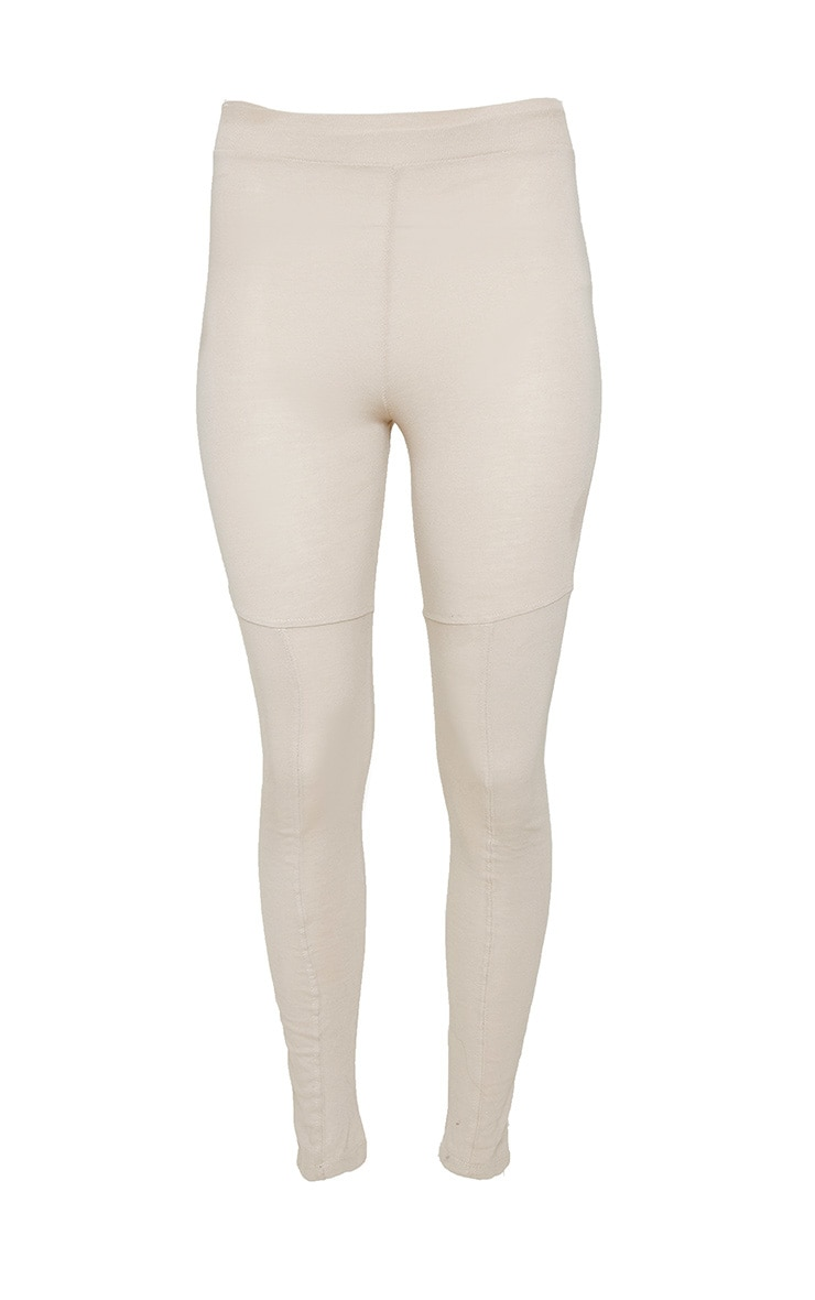 Oatmeal Marl Panel Gym Legging 3
