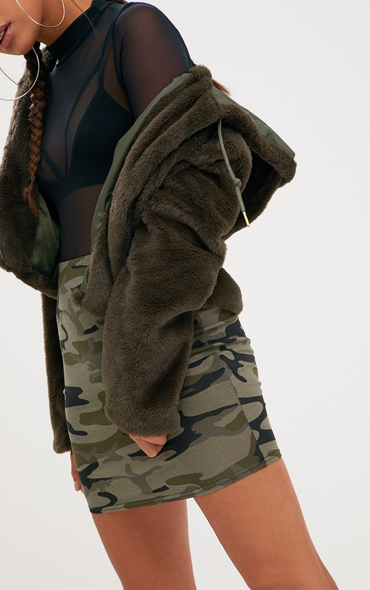 Khaki Camo Mini Skirt 6