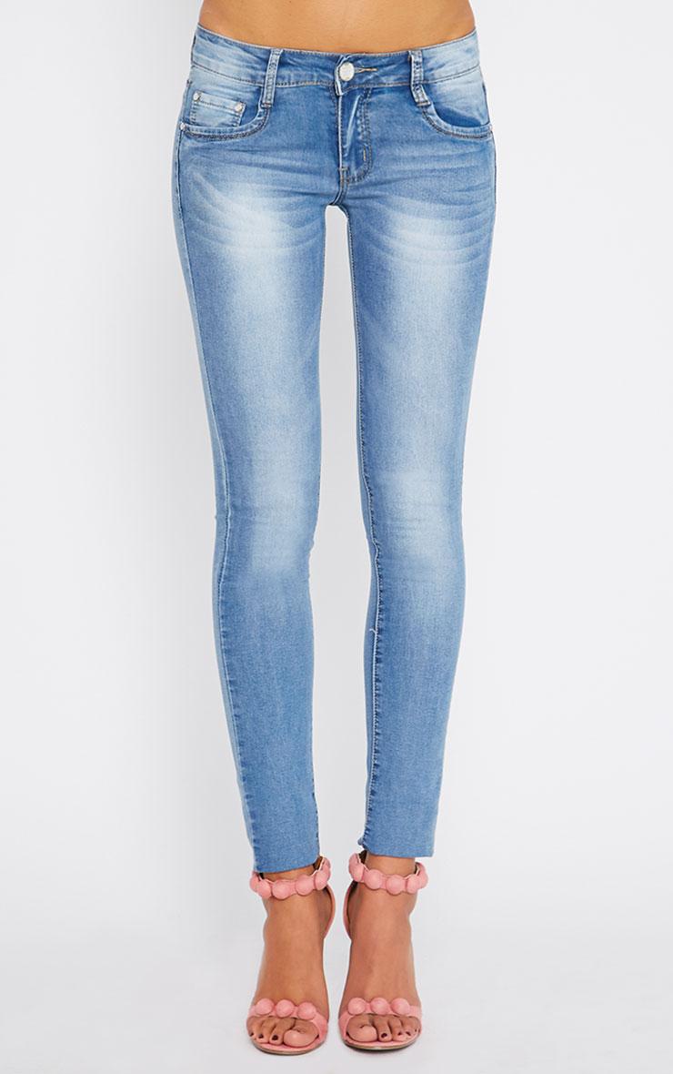 Maisy Light Blue Wash Skinny Jean 2