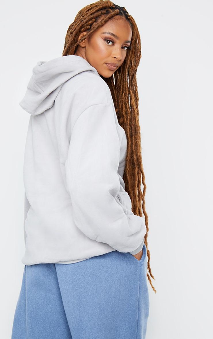 Grey Fleece Oversized Pocket Sweatshirt 2