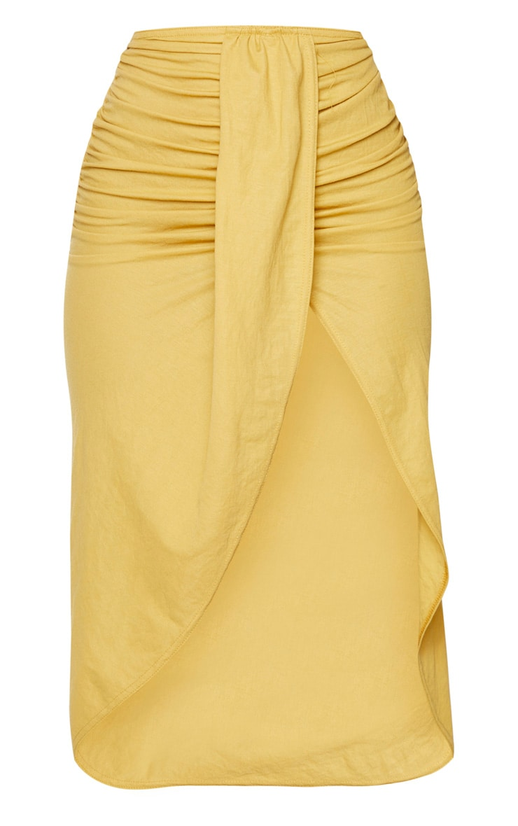Yellow Knot Front Wrapped Sarong 5