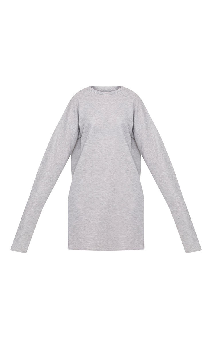Breanna Grey Extreme Long Sleeved Sweater Dress 3