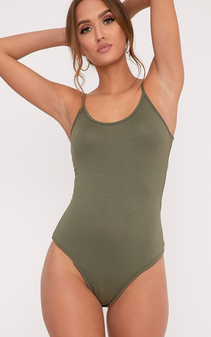 Basic Khaki Bodysuit Do Not Use 2