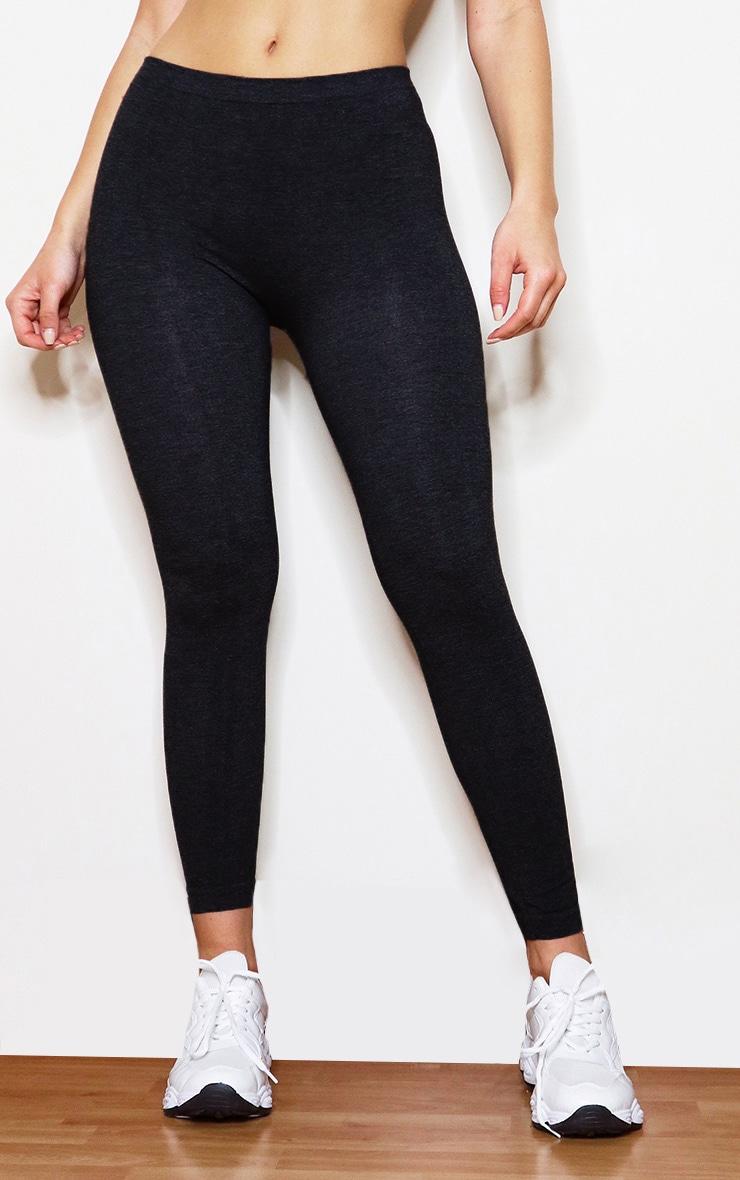 Black Basic Gym Leggings 2