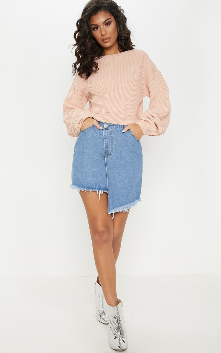 Blush Wide Sleeve Knitted Jumper 4