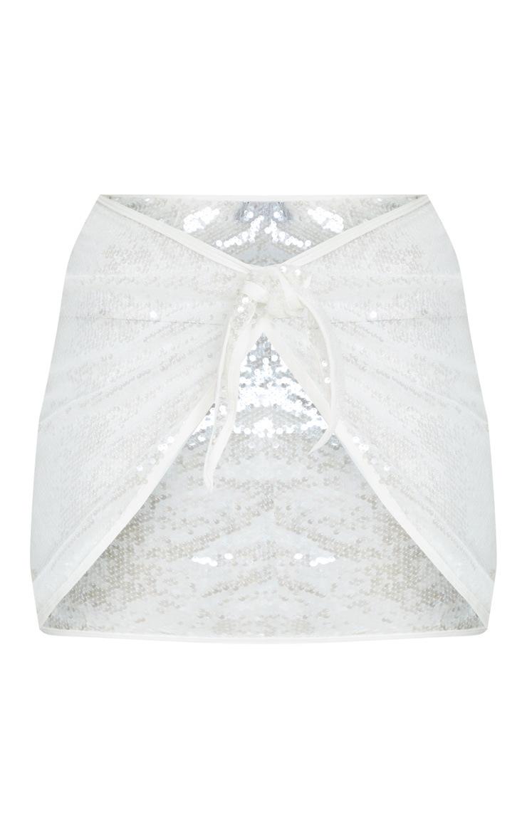 White Sequin Sarong 5