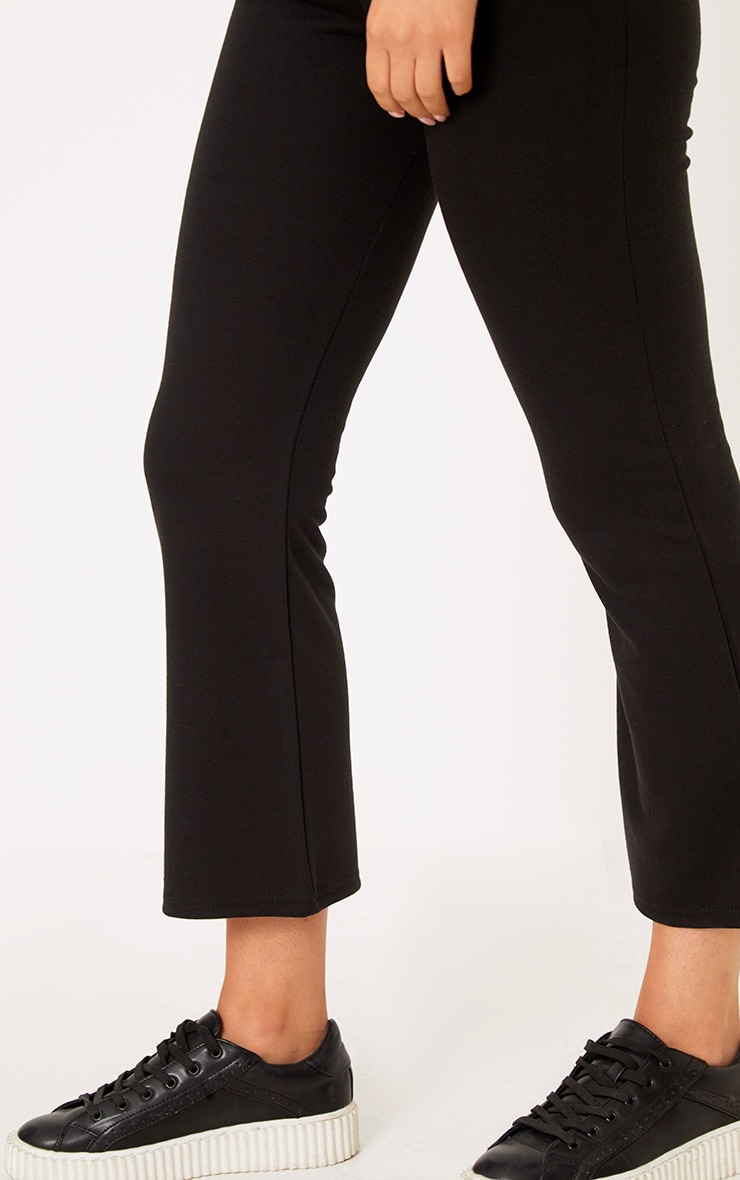 Black Kick Flare Cropped Pants 5
