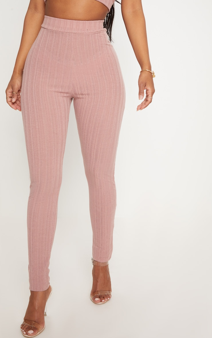 Shape Mocha High Waist Ribbed Leggings 2