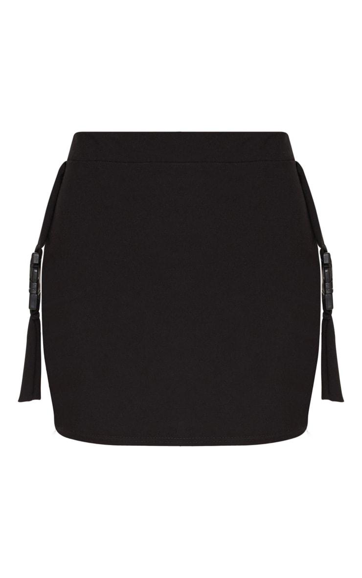 Black Buckle Detail Mini Skirt 3
